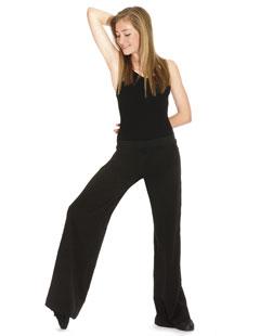 Pantalon de jazz ample en coton/lycra