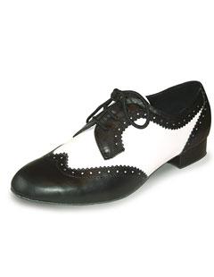Chaussures de danse homme Derby, noir/blanc